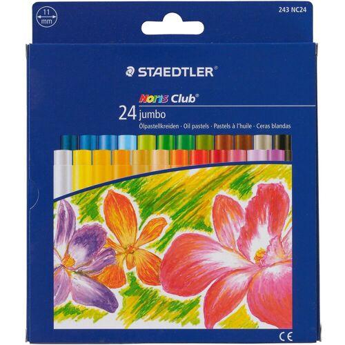 Staedtler NORIS Club Jumbo-Öl-Pastellkreiden, 24 Farben