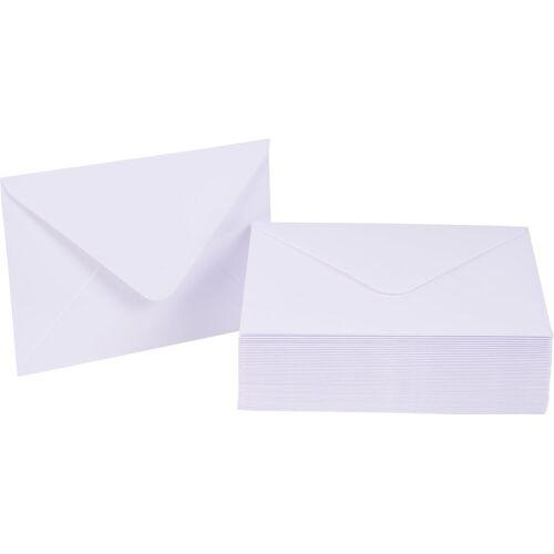 VBS Briefumschlag, DIN C6, 50 Stück, Weiß