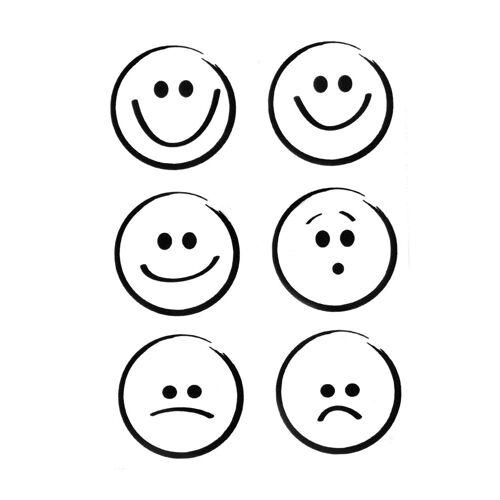 VBS Stempel »Emoticons«, 6 Stück