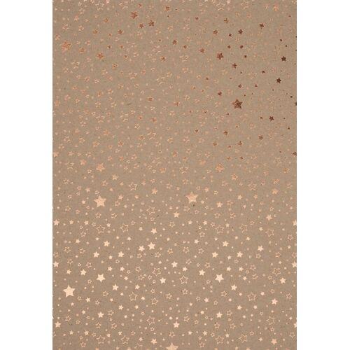 VBS Kraftpapier »Sterne«, 70 cm x 50 cm, Kupfer