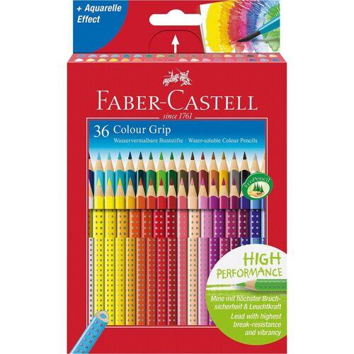 Faber-Castell COLOUR GRIP Buntstifte wasservermalbar, 36 Farben