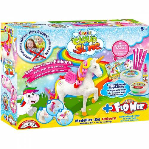 CRAZE Knete »Cloud Slime meets Flo-Mee - Einhorn Set«