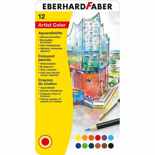 Eberhard Faber Aquarellbuntstifte, 12 Farben+Pinsel
