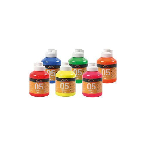 A-Color Acrylfarbe, 05 - Neonfarben, 6x500ml