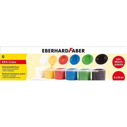Eberhard Faber Schulmalfarben, 6 x 25 ml inkl. Mischpalette