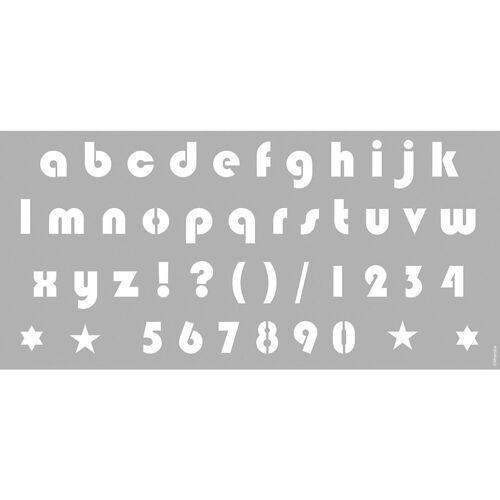 Marabu Malvorlage »Schablone 31,5 x 66 cm Alphabet Small Letters«