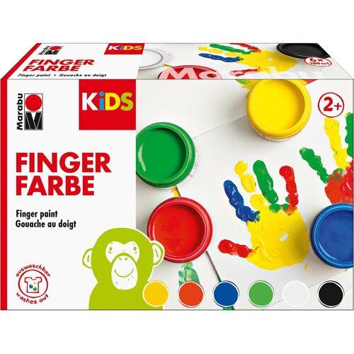 Marabu KIDS Fingerfarbe, 6 x 100 ml