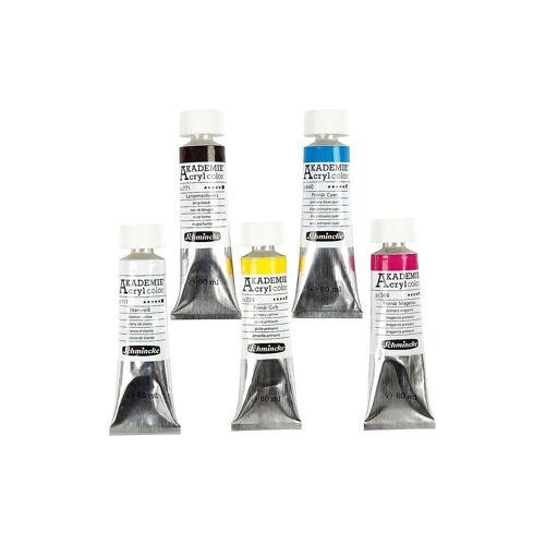 Schmincke AKADEMIE® Acrylfarbe, Primärfarben, 5x500ml