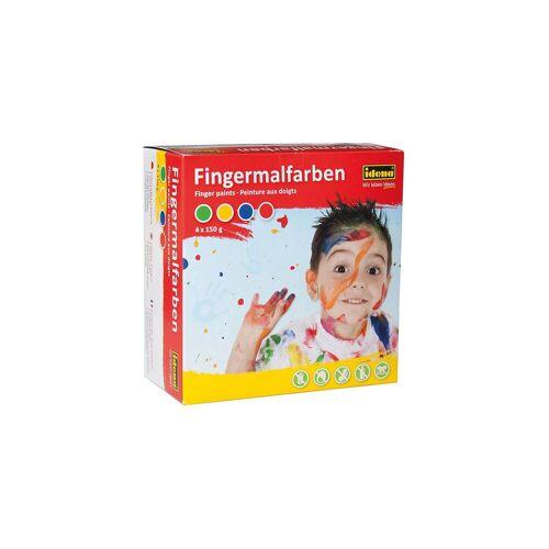 Idena Fingerfarben, 4 x 150 ml
