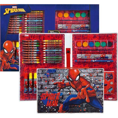UNDERCOVER Malkoffer XXL Spider-Man, über 100 Teile