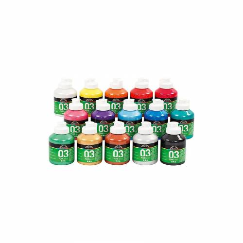 A-Color Acrylfarbe, 15 x 500 ml