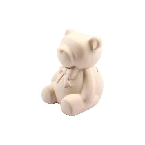 Spardose, Bär, H 9 cm, 10 Stck., Weiß