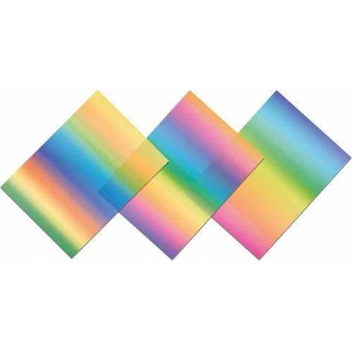 URSUS Dekorationsfolie »Regenbogen-Fensterfolie 23X33cm,3 Blatt«