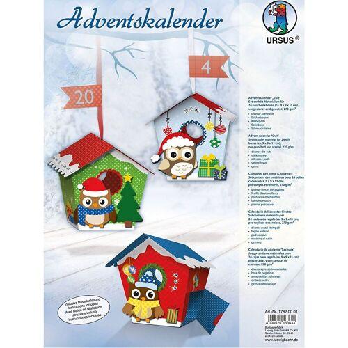 URSUS Wandkalender »Blanko-Adventskalender Eule«
