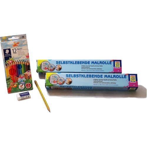 Joka Toys Malvorlage »Malrollen inklusive Farbstifte«, mit Staedler Farbstiften, bunt