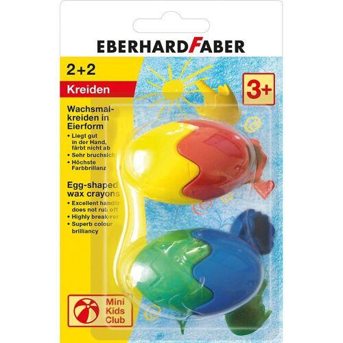 Eberhard Faber Wachsmalkreideeier, 2 Stück