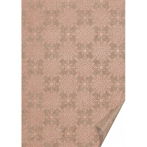 VBS Motivpapier »Naturkarton Ornamente«, 70 cm x 50 cm, Kupfer