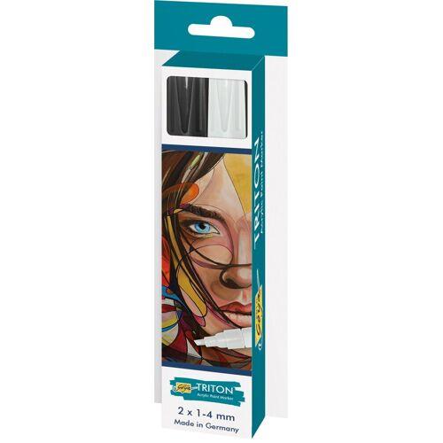 "Kreul Acrylfarbstifte-Set ""Triton Acrylic Paint Marker 1.4 S/W"""