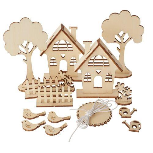 Rayher Modellbausatz »Gartenhäuser«, 29 Teile