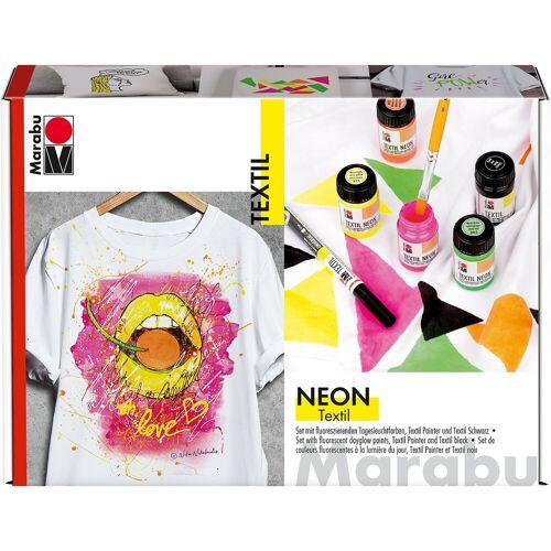 Marabu Textilfarbe Neon-Set