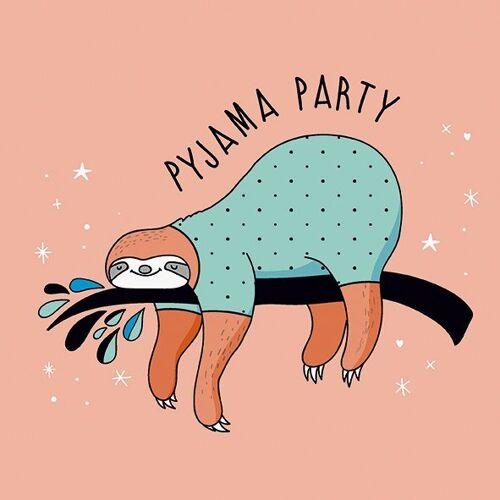 Serviette 'Faultier Pyjama'