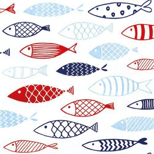 Serviette 'Maritime Fische'