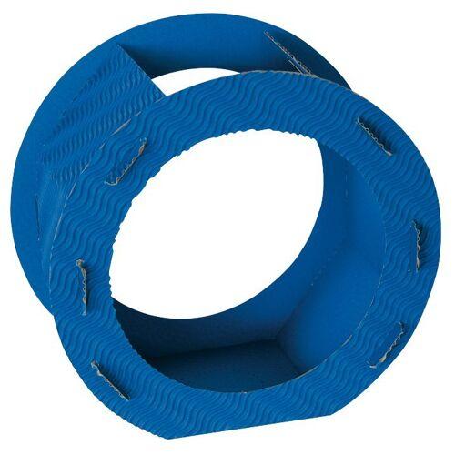 "Folia Rundlaternen-Zuschnitt ""Rohlinglaterne"" 22 cm, Blau"