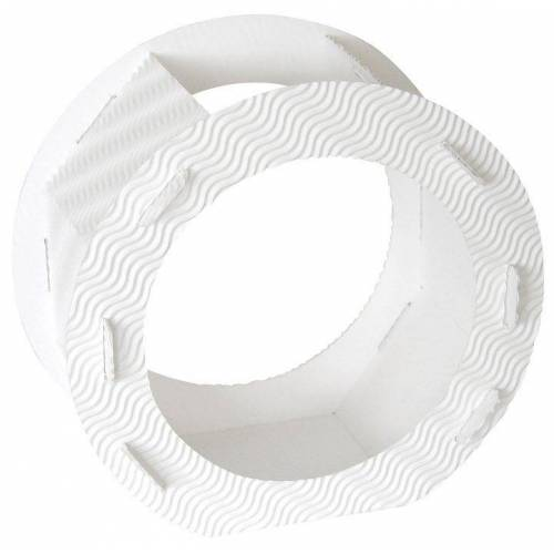"Folia Rundlaternen-Zuschnitt ""Rohlinglaterne"" 22 cm, Weiß"