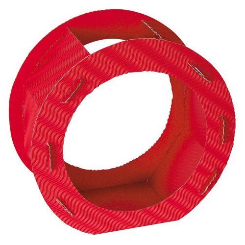 "Folia Rundlaternen-Zuschnitt ""Rohlinglaterne"" 22 cm, Rot"