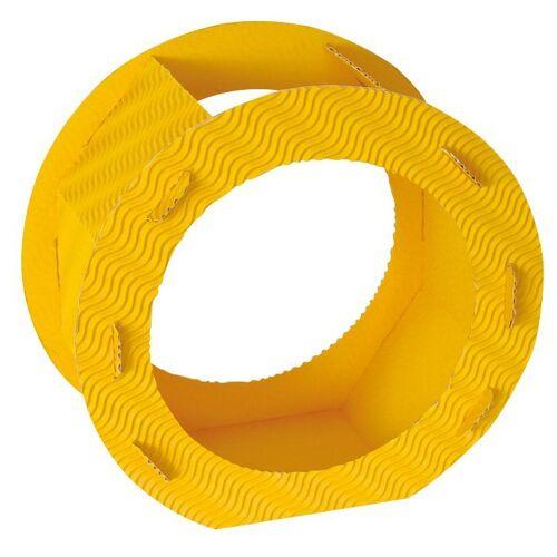 "Folia Rundlaternen-Zuschnitt ""Rohlinglaterne"" 22 cm, Gelb"
