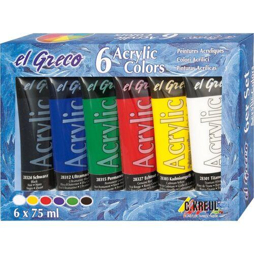 """Kreul Acrylfarbe-Set """"el Greco Acrylic"""" 6 Farben"""