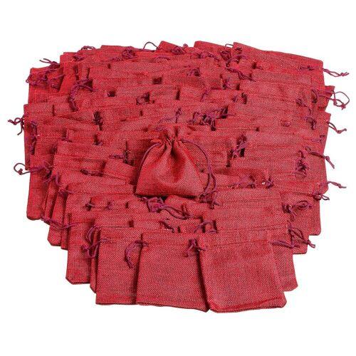 VBS Großhandelspackung 100 Jutebeutel, rot