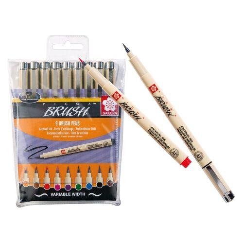 Sakura Pigma brush Pinselstifte 9er-Set