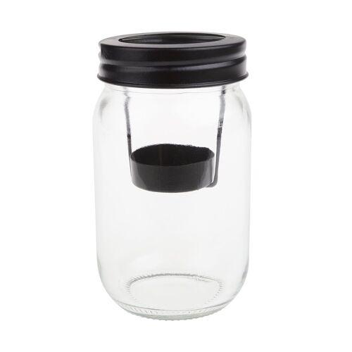 """VBS Glas Windlicht """"Teelichteinsatz"""" 13,5 cm hoch"""