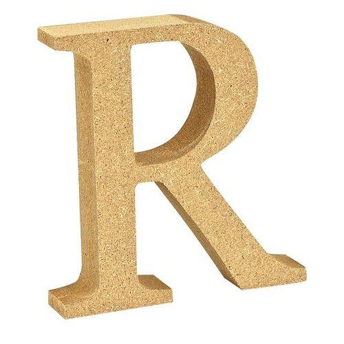 """VBS Buchstaben """"MDF"""" 8 cm x 1,5 cm, Buchstabe """"R"""""""