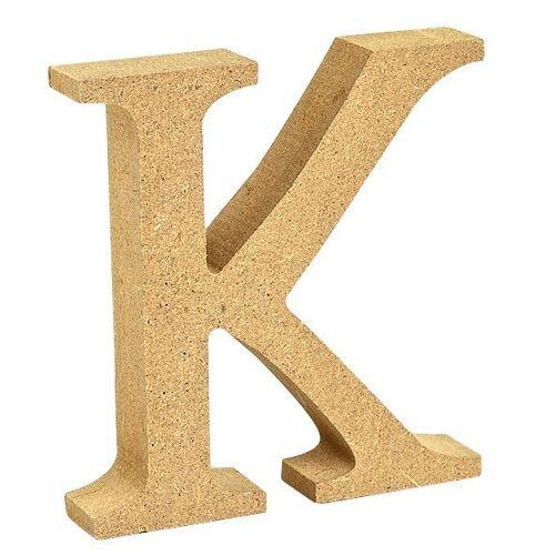 """VBS Buchstaben """"MDF"""" 8 cm x 1,5 cm, Buchstabe """"K"""""""