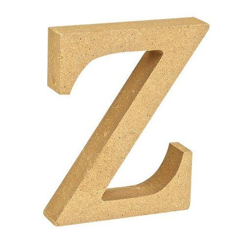 """VBS Buchstaben """"MDF"""" 8 cm x 1,5 cm, Buchstabe """"Z"""""""