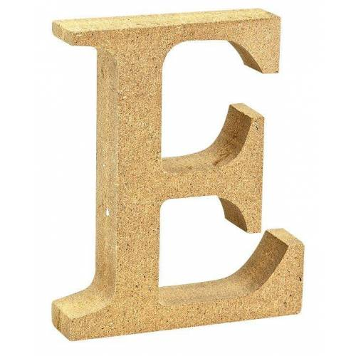 """VBS Buchstaben """"MDF"""" 8 cm x 1,5 cm, Buchstabe """"E"""""""