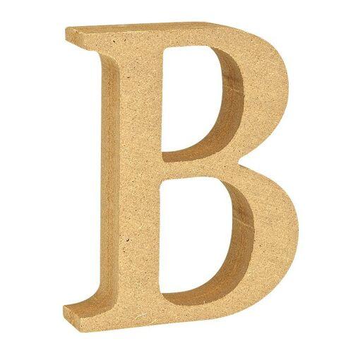 """VBS Buchstaben """"MDF"""" 8 cm x 1,5 cm, Buchstabe """"B"""""""