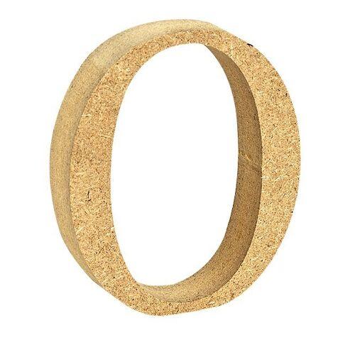 "VBS Buchstaben ""MDF"" 8 cm x 1,5 cm, Buchstabe ""O"""