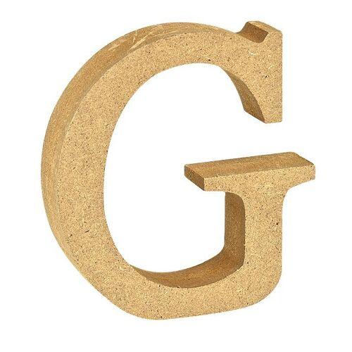"""VBS Buchstaben """"MDF"""" 8 cm x 1,5 cm, Buchstabe """"G"""""""