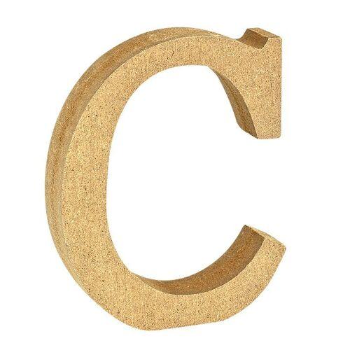 """VBS Buchstaben """"MDF"""" 8 cm x 1,5 cm, Buchstabe """"C"""""""