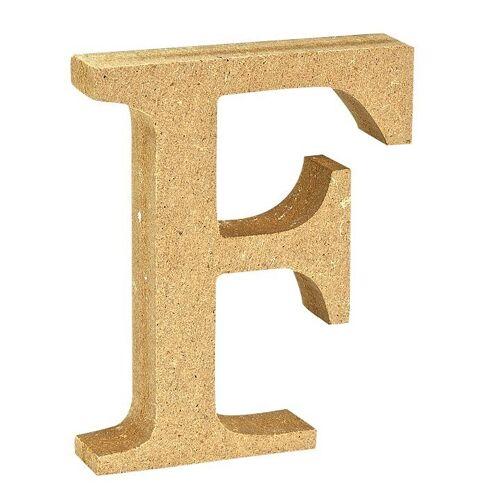 """VBS Buchstaben """"MDF"""" 8 cm x 1,5 cm, Buchstabe """"F"""""""