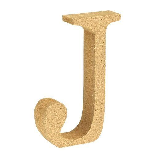 """VBS Buchstaben """"MDF"""" 8 cm x 1,5 cm, Buchstabe """"J"""""""