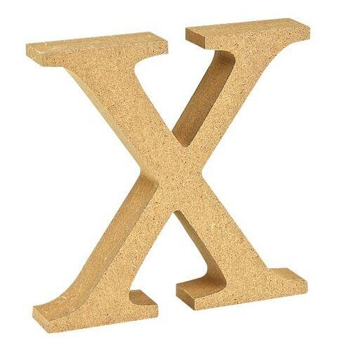 """VBS Buchstaben """"MDF"""" 8 cm x 1,5 cm, Buchstabe """"X"""""""