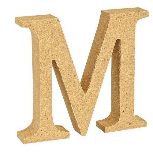 """VBS Buchstaben """"MDF"""" 8 cm x 1,5 cm, Buchstabe """"M"""""""