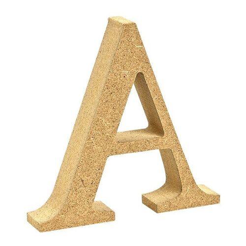 """VBS Buchstaben """"MDF"""" 8 cm x 1,5 cm, Buchstabe """"A"""""""