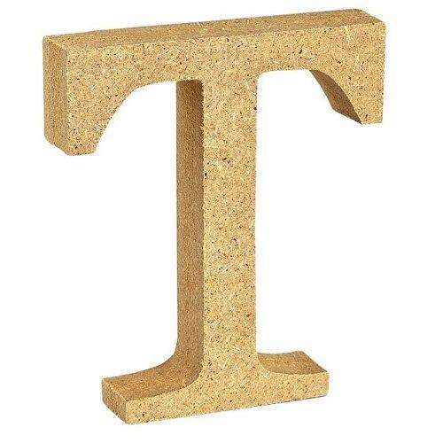 """VBS Buchstaben """"MDF"""" 8 cm x 1,5 cm, Buchstabe """"T"""""""