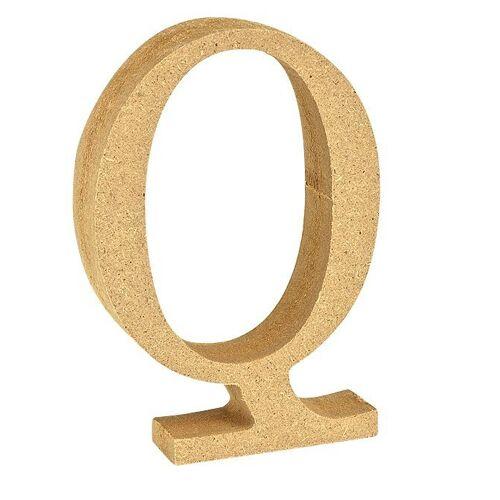 """VBS Buchstaben """"MDF"""" 8 cm x 1,5 cm, Buchstabe """"Q"""""""