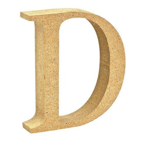 """VBS Buchstaben """"MDF"""" 8 cm x 1,5 cm, Buchstabe """"D"""""""
